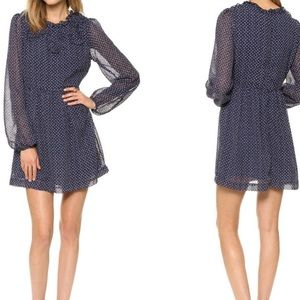 Free People Noveau Butterfly Dress - Size 4 - Navy